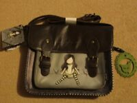 Girl's leather satchel
