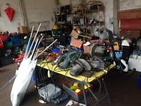 Garage sale drills saws tools materials. Builders £1 to £20 e11 mornings only