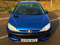 """ LOW MILEAGE "" (2005) PEUGEOT 206 1.2 S 3DR - FULLY LOADED - FULL SERVICE HISTORY - LONG MOT"