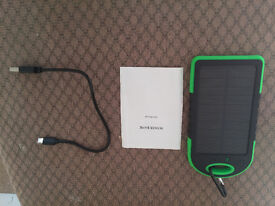 External 12000mAh Power Bank Solar Panel Portable 2 USB Battery Charging Charger