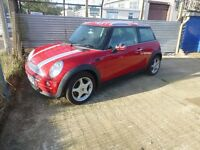 MINI ONE , UNION JACK FINISHED IN RED WITH FSH