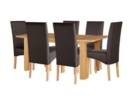 Brand New Extendable 6-8 Seater Oak Dining Set