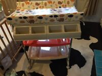 Baby bath and changing table with free pod bath