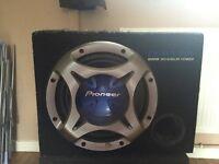 pioneer ts-wx301 800watt sub woofer