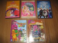 Collection of Children's DVDs and Book/CD set including Disney Frozen