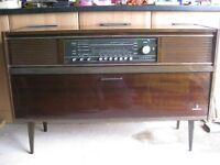 Grundig Stereo Radiogram with paperwork.