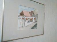 Framed, Glazed, Original watercolour of MacKenzies, Bridge Road, Colinton, Edinburgh