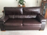 Granfort Brown leather sofas