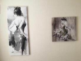 Two pretty canvas