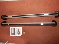 Genuine Audi A3 05 - 13 Sportback Roof Bars 8P9 071 151 666 with keys, tool and instructions VGC