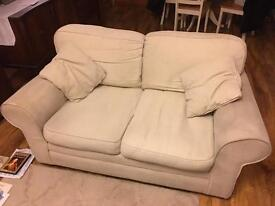 Beige / sand 2 x 2 seater sofas