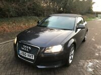 2010 Audi A3 Cabriolet CONVERTIBLE 1.6TDI Technik FULL LEATHER SERVICE HISTORY £30 TAX YEARS