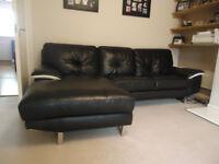 Lather corner sofa. AS NEW !!! Bargain !!!
