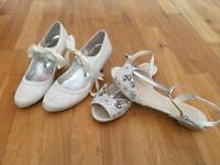 2 wedding shoes size 5