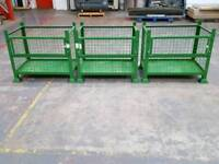 Metal folding wire storage cages