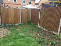 Fence panels painting one side