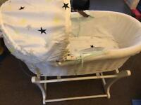 Baby k Moses basket and rocking stand