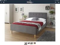 Brand New - Fabric Double Bed Frame