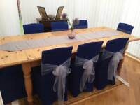 Pine Dining Table & 8 Chairs