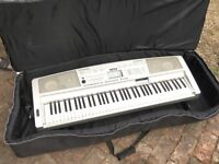 Yamaha Keyboard with case and pedal