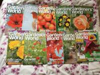 10 x Gardeners world magazines