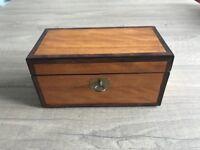 Antique satinwood tea caddy