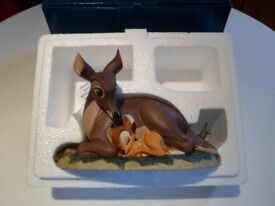 DISNEY BAMBI AND MOTHER FIGURINE