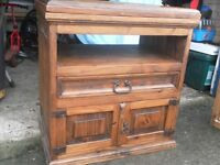 Mexican Pine TV cabinet with swivel top