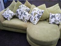 Lime Green Chase Sofa DFS