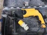 Dewalt SDS Plus Hammer Drill, 110v, Fully working. NO OFFERS