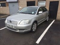 BARGAIN 2005 TOYOTA AVENSIS 1 YEAR MOT FULL TOYOTA SERVICE HISTORY RELIABLE CAR PX WELCOME £895