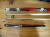 Quality,Cooper Pool Cue,And Pro One Pool Cue In Pouch.