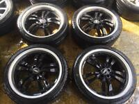 "18"" TSW ALLOY WHEELS MK4 GOLF BORA CELICA BETTLE TT SET OF 4 h"