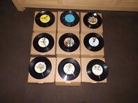 """78 upcycled 7"""" vinyl record clocks, all different. great bargain lot."""