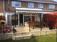 Half Price - £499 - 5m x 3m Full Cassette Electric Garden Patio Awning Sun Canopy Shade Retractable