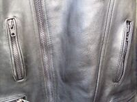 "Motorcycle leather jacket ""bikers"" size 56 (xxl ) top quality by jts cost around £300 very heavy."