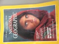 National Geographic - original with the iconic blue-eyed Afghan girl