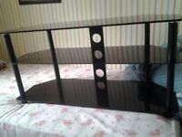 This is a semi black tv stand 2 shek=lves, collection only.