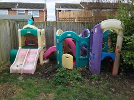 Little tikes garden slide set