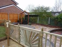 Sheds and fencing supplied and erected