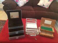 3x jewellery boxes