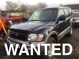 Wanted jeep Mitsubishi shogun Mercedes ml 270 Honda CR-V