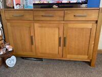 Solid Oak Sideboard / TV unit
