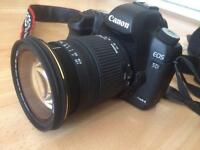 Canon EOS 5D Mark 2 with lens, two batteries, charger, cards, bag and a few more extras thrown in