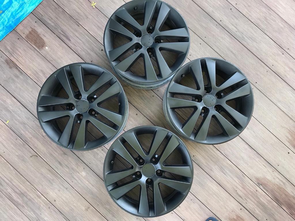 "Newly Refurbished Satin Black Alloy Wheels 16"" x 4"