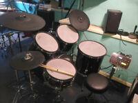 Diamond Drums 5 Piece Hybrid Electronic Kit + Hardware - 2BOX brain, 2Box Hi Hat/Cymbals S.