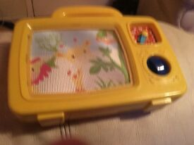 Wind up kids picture tv toy