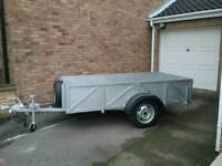 Braked Car Trailer 8ft x 4ft x 19ins deep