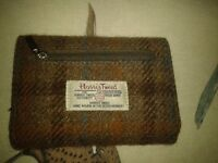 Harris Tweed brown wallet/purse in great condition RRP £39.99