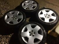 "17"" Vauxhall Omega Elite alloy wheels & tyres & wheel nuts & covers"